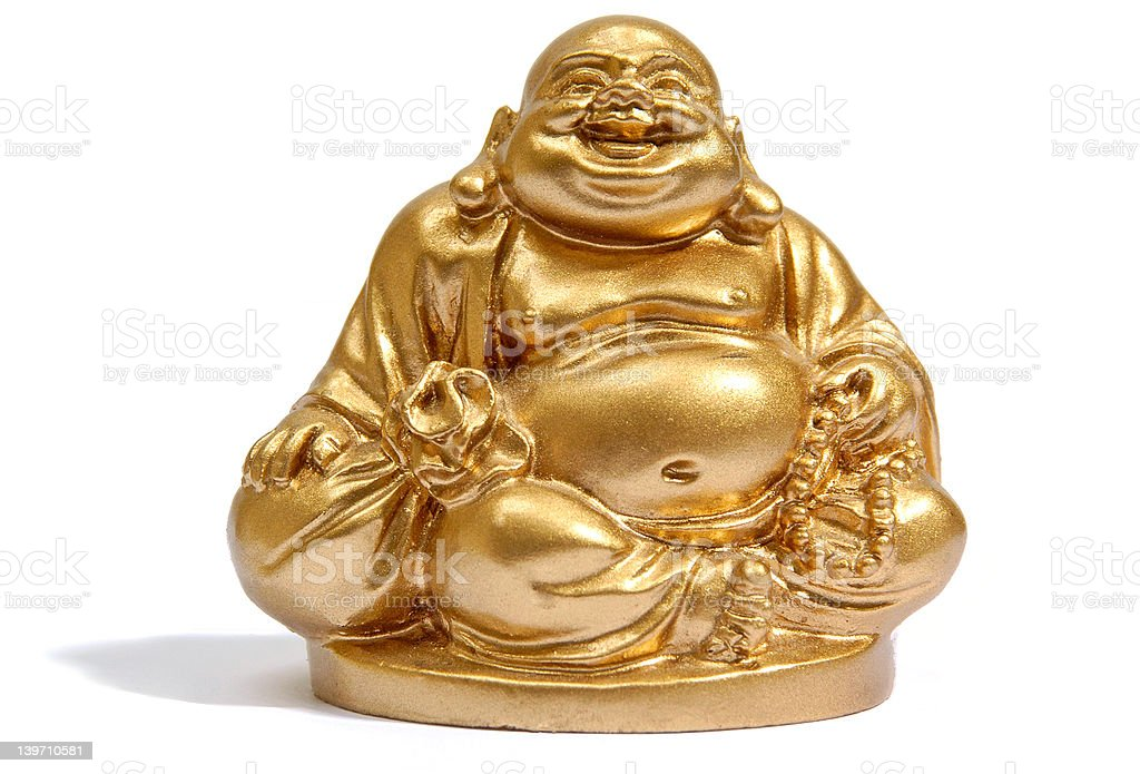 Meditating Buddha stock photo