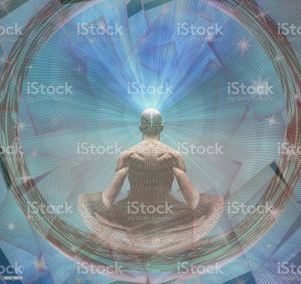 Meditating Man stock photo