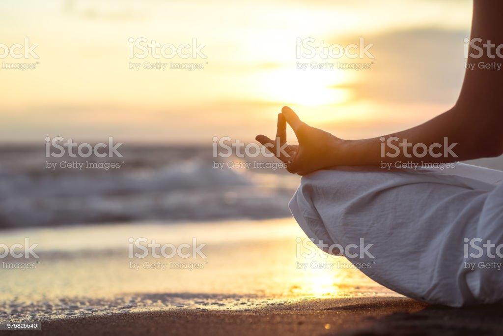Meditieren - Lizenzfrei Entspannung Stock-Foto