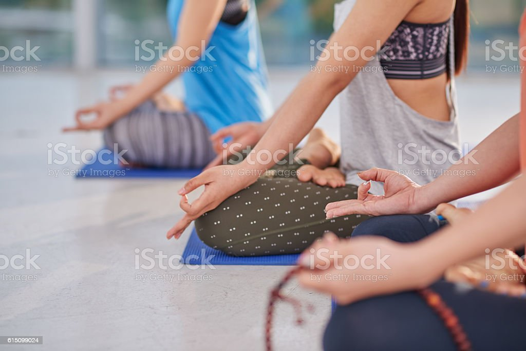 Meditation and relaxation stock photo