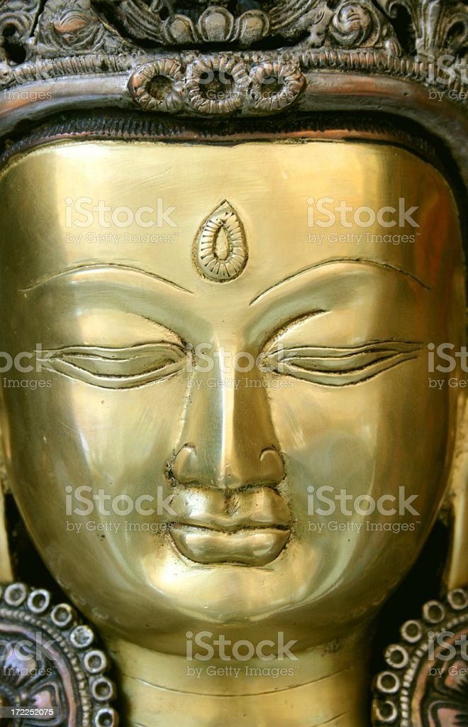 meditation and third eye royalty-free stock photo