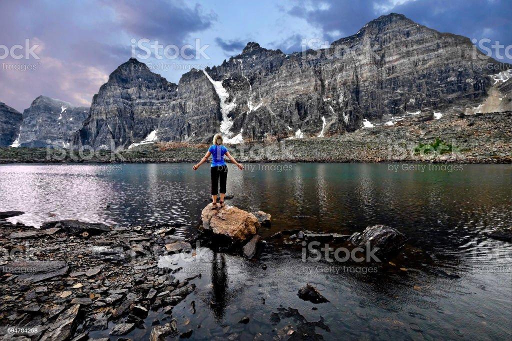 Meditation von See im Tal der zehn Gipfel. – Foto