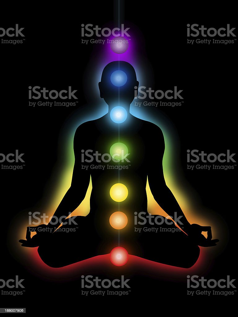 meditation, chakras stock photo