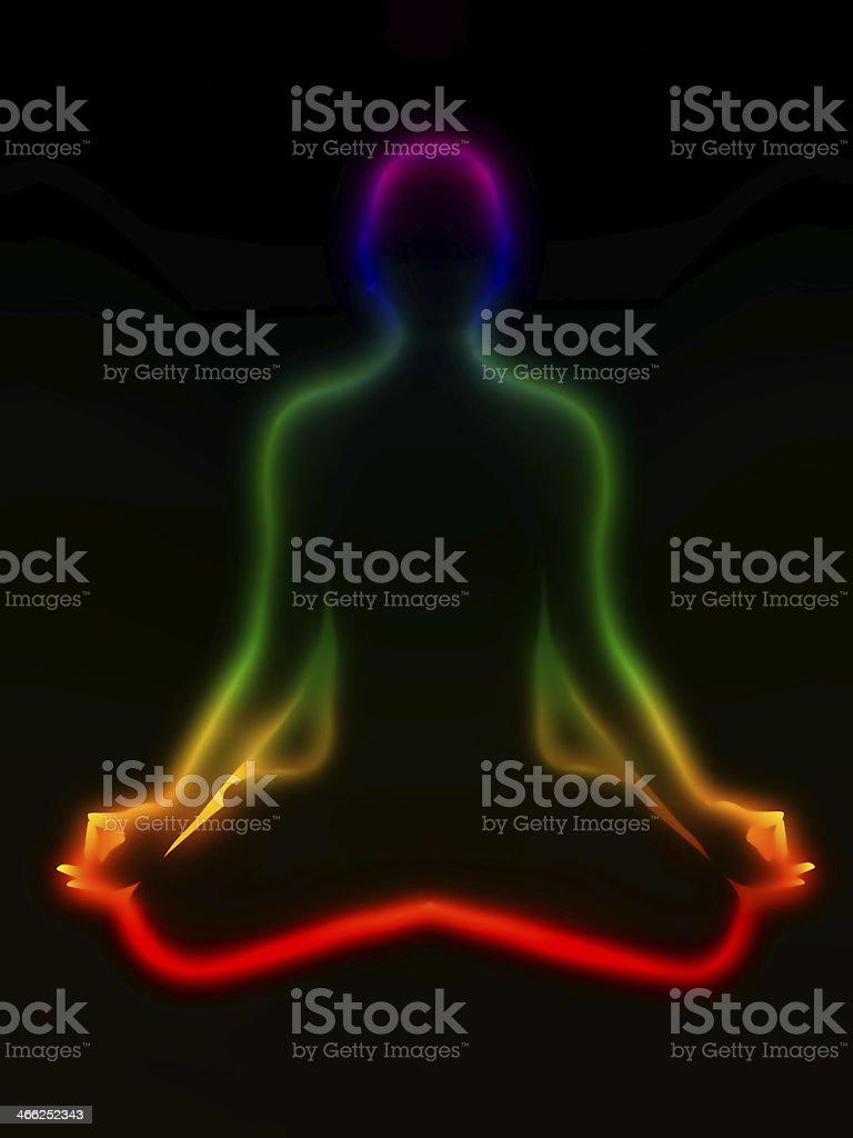 Meditation, chakras stock photo