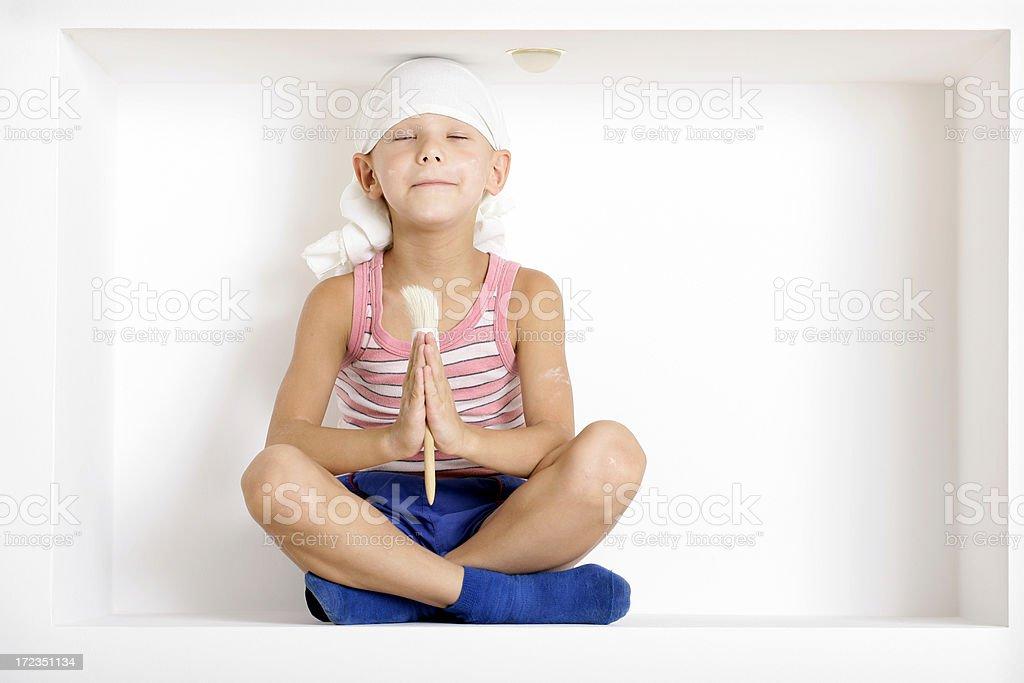 Meditation for decoration royalty-free stock photo