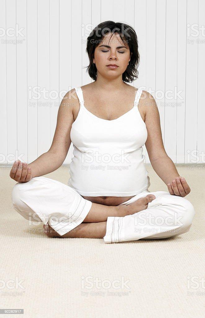 Meditation, Holistic or Hypno Birthing stock photo