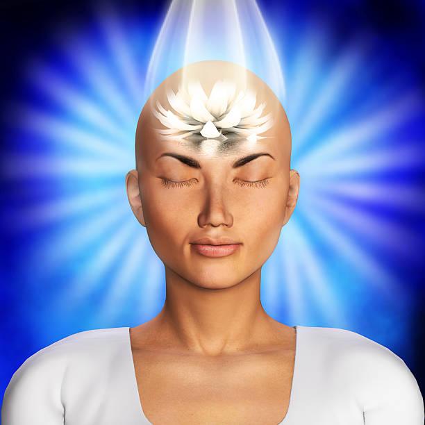Meditation illustration stock photo