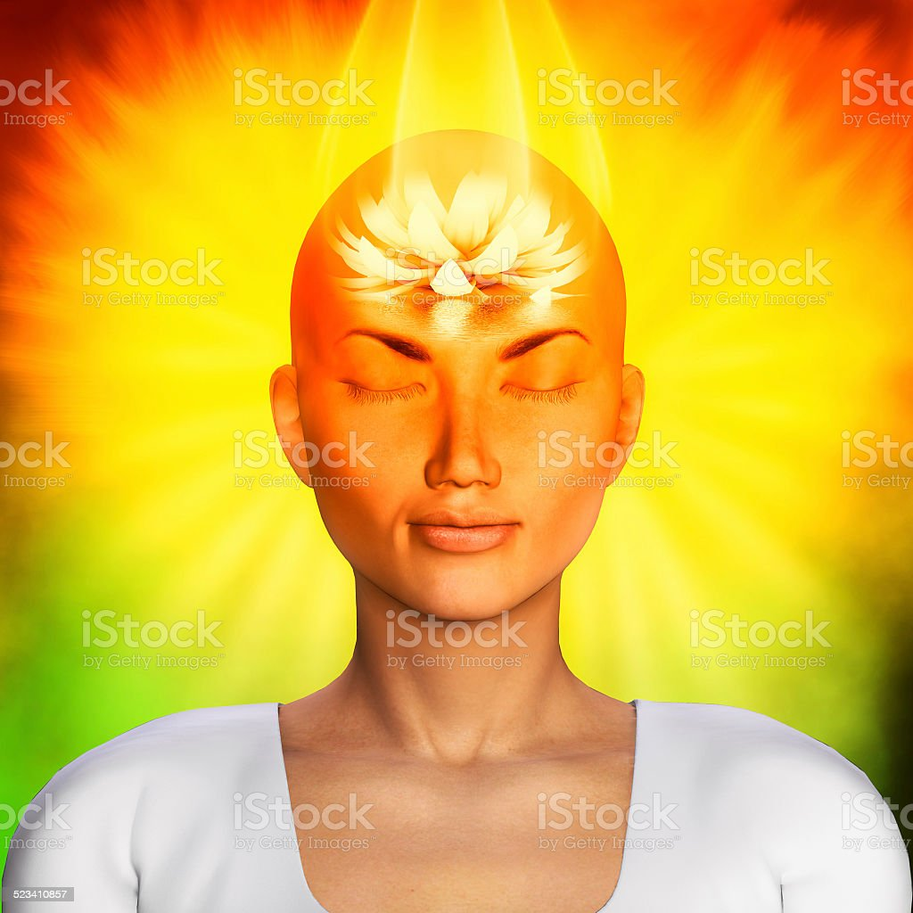 Meditation illustration stock photo