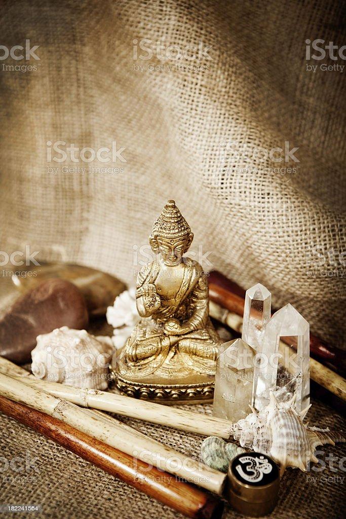 meditation objects royalty-free stock photo