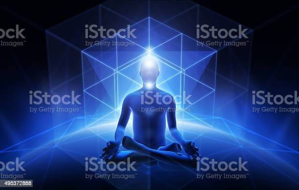 Meditation Of Man Stock Photo - Download Image Now