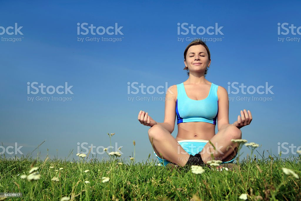 Meditation outdoor. royalty-free stock photo