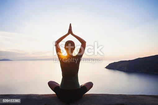 istock Meditation outdoors 539453360