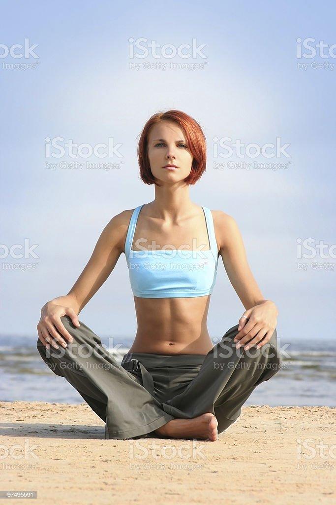 meditation royalty-free stock photo