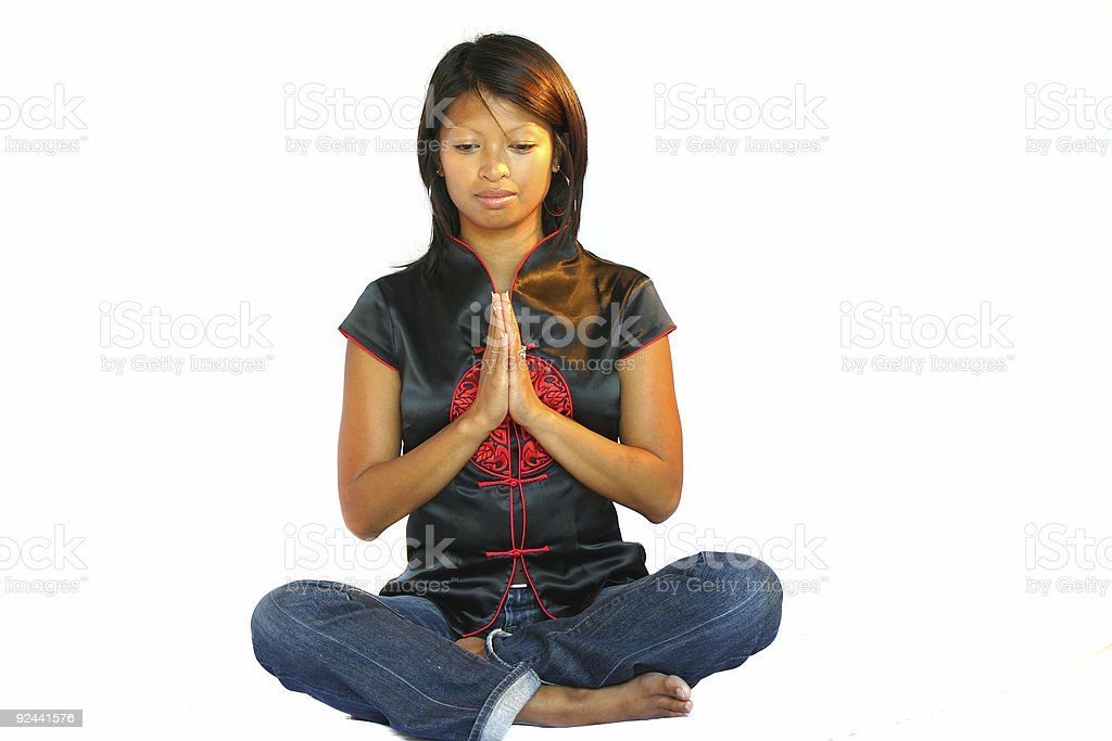 Meditation pose royalty-free stock photo