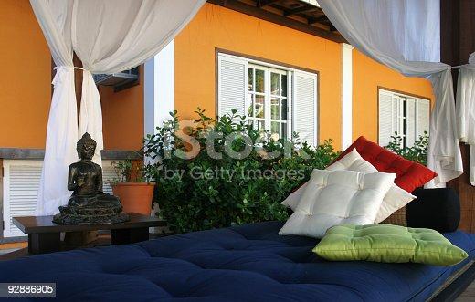 Meditation Setup In Brazilian Resort stock photo | iStock