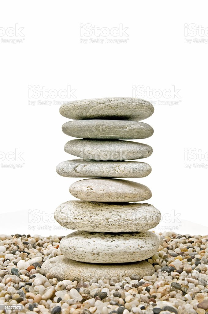 Meditation stone royalty-free stock photo