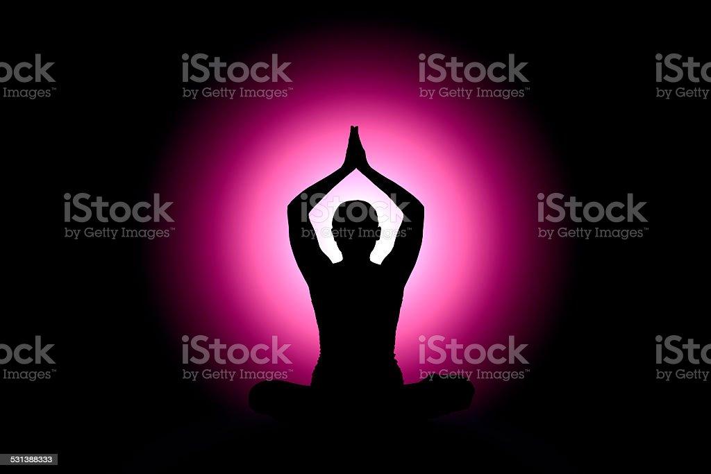 Meditation. Yoga abstract stock photo
