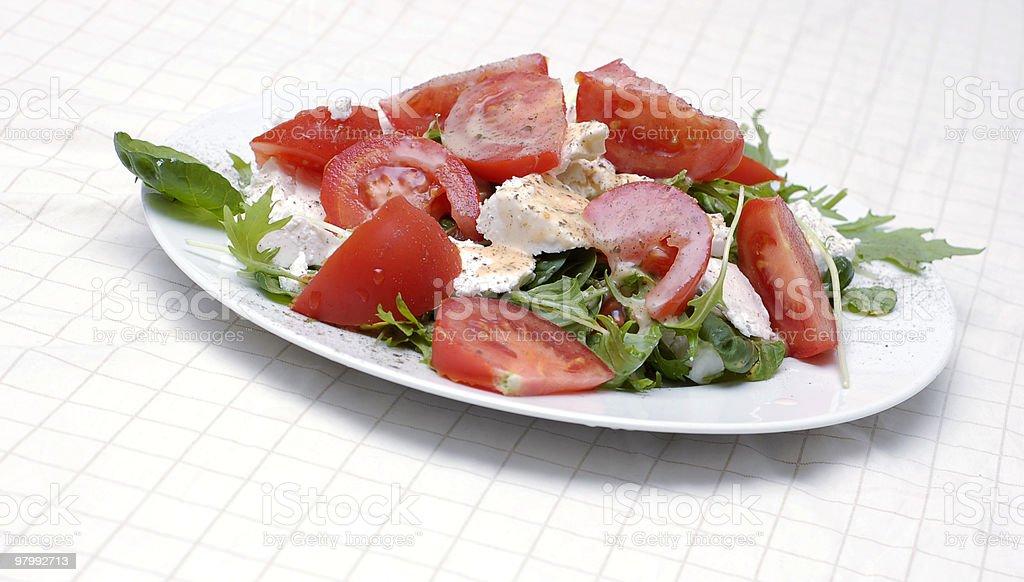 Mediteranian salad royalty free stockfoto