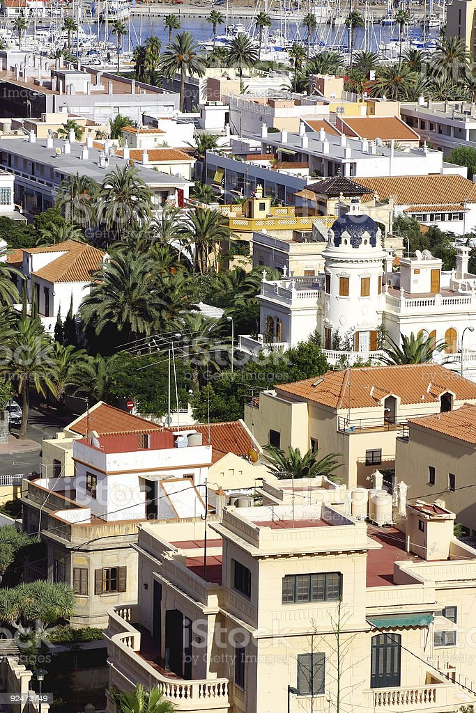 Mediterranaen Town Rooftops royalty-free stock photo