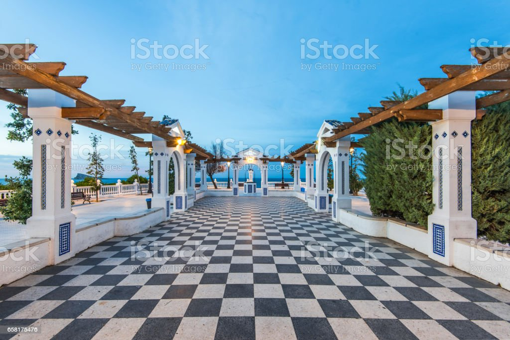 Mediterranean Balcon in Benidorm, Alicante Spain stock photo