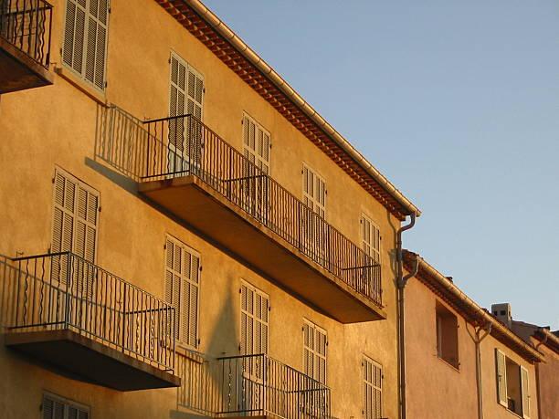 mediterranean balconies. - fsachs78 stockfoto's en -beelden