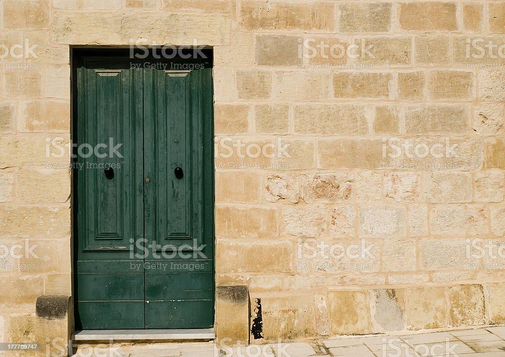 Mediterranean Baroque Door royalty-free stock photo