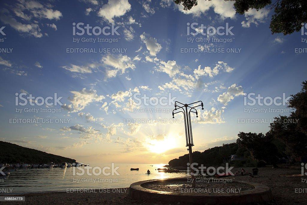 Mediterranean beach, Croatia royalty-free stock photo