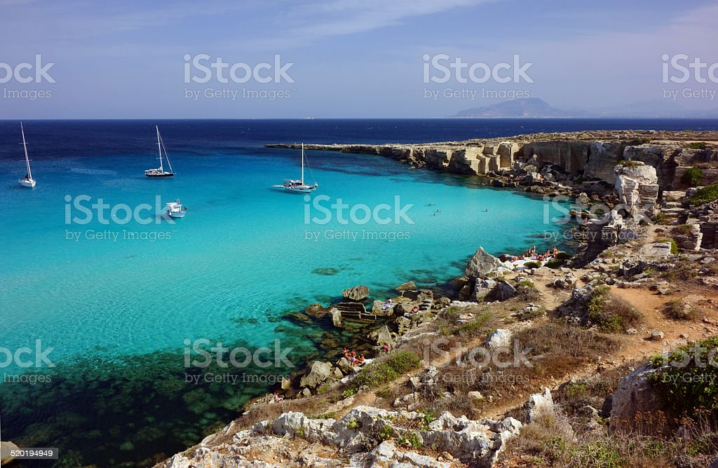 mediterranean beach stock photo