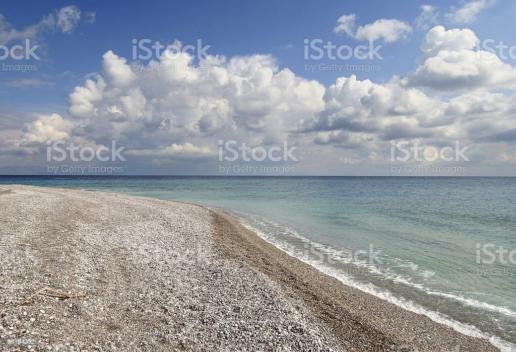 Mediterranean Beach royalty-free stock photo