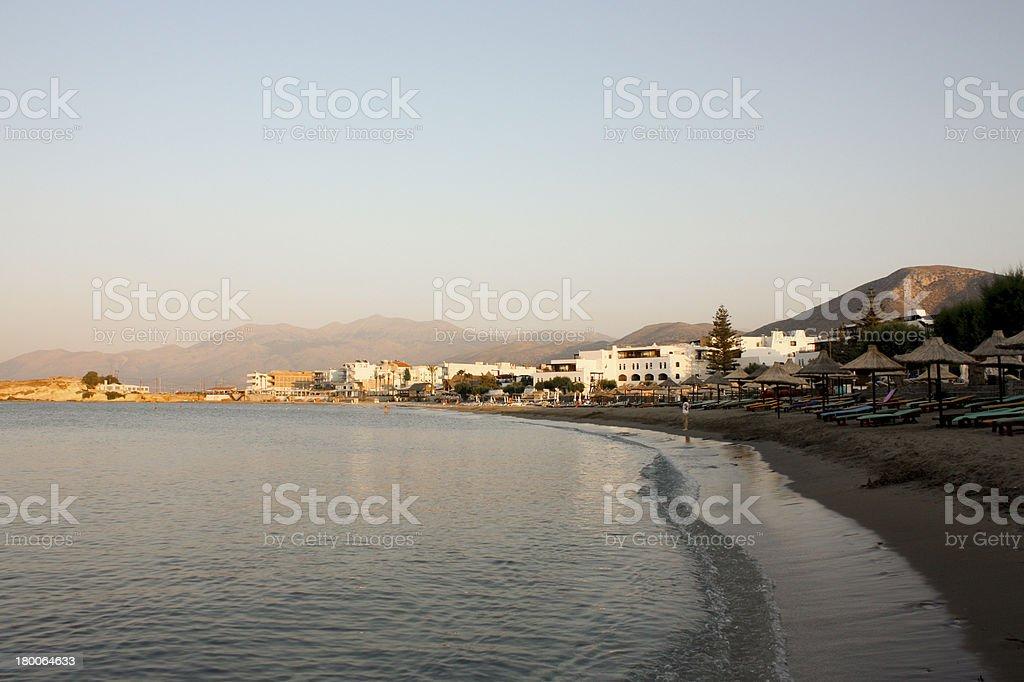 Mediterranean Beach Resort at Sunset royalty-free stock photo