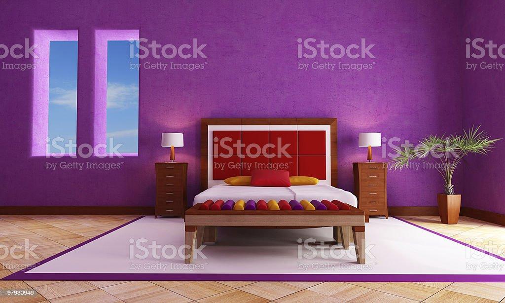 Mediterranean Bedroom royalty-free stock photo