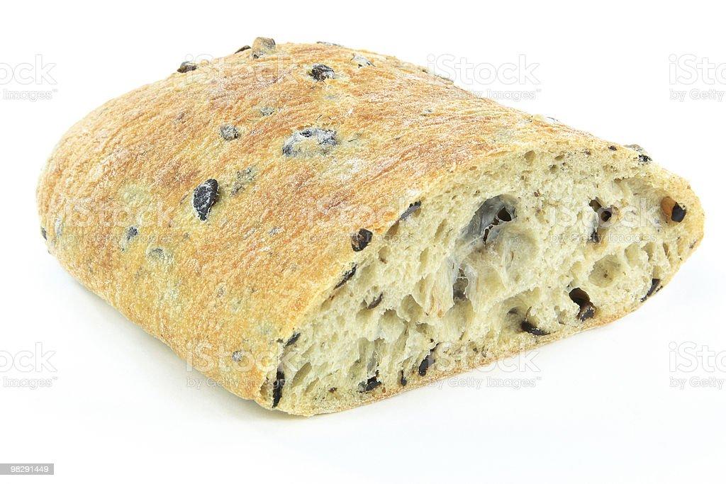 메디터레니언 치아바타 블랙 올리브 식빵. royalty-free 스톡 사진