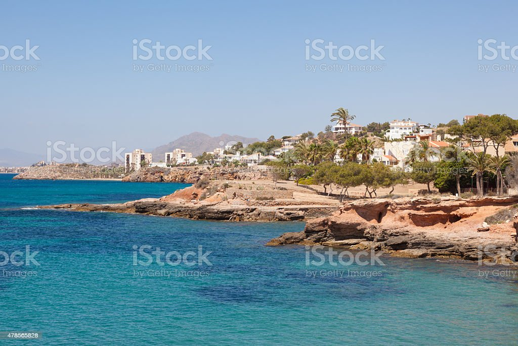 Mediterranean Coast in Spain stock photo