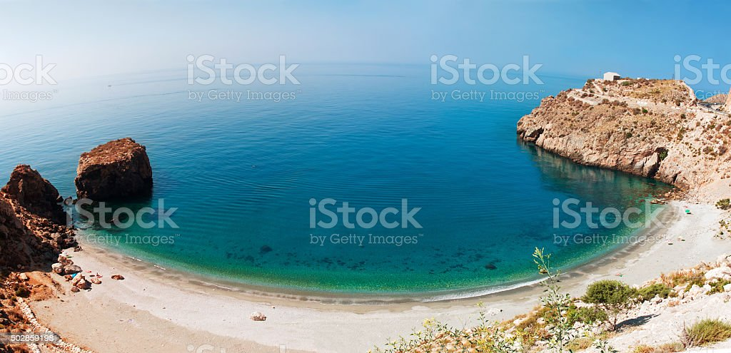 Mediterranean coast, near town of Calahonda, Province of Almeria stock photo