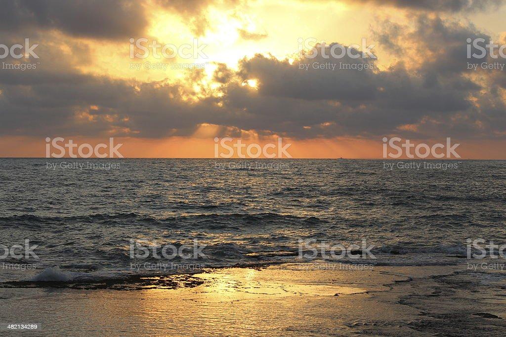 Mediterranean coast Northern Israel near RoshHaNikra royalty-free stock photo