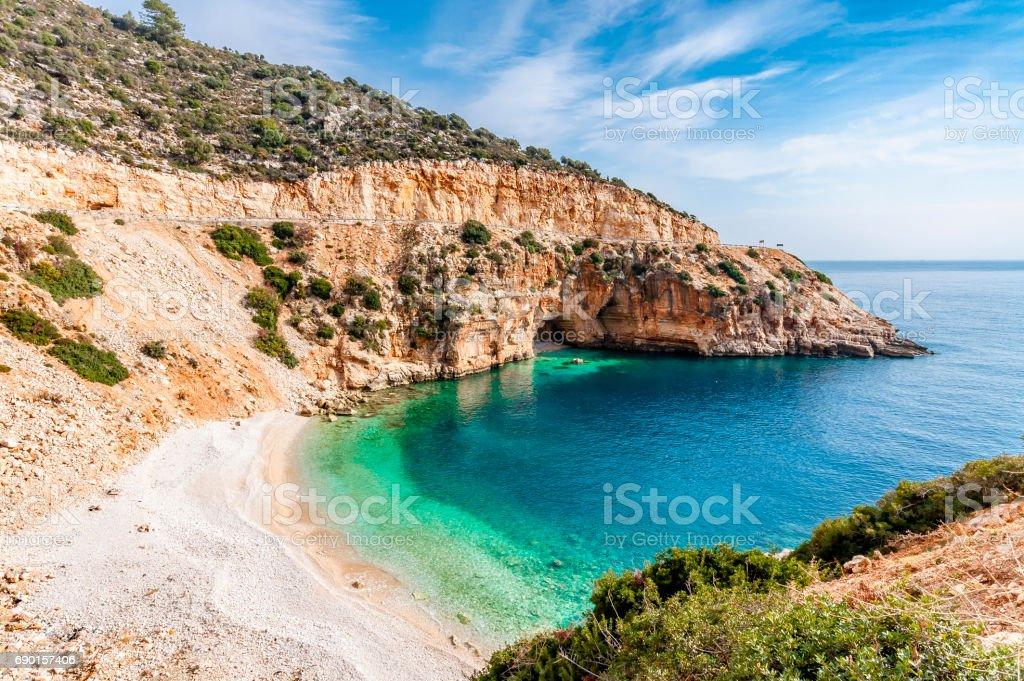 Mediterranean coast of Turkey stok fotoğrafı