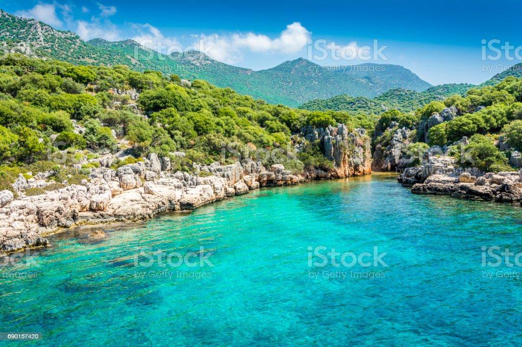 Türkiye'nin Akdeniz sahilleri stok fotoğrafı