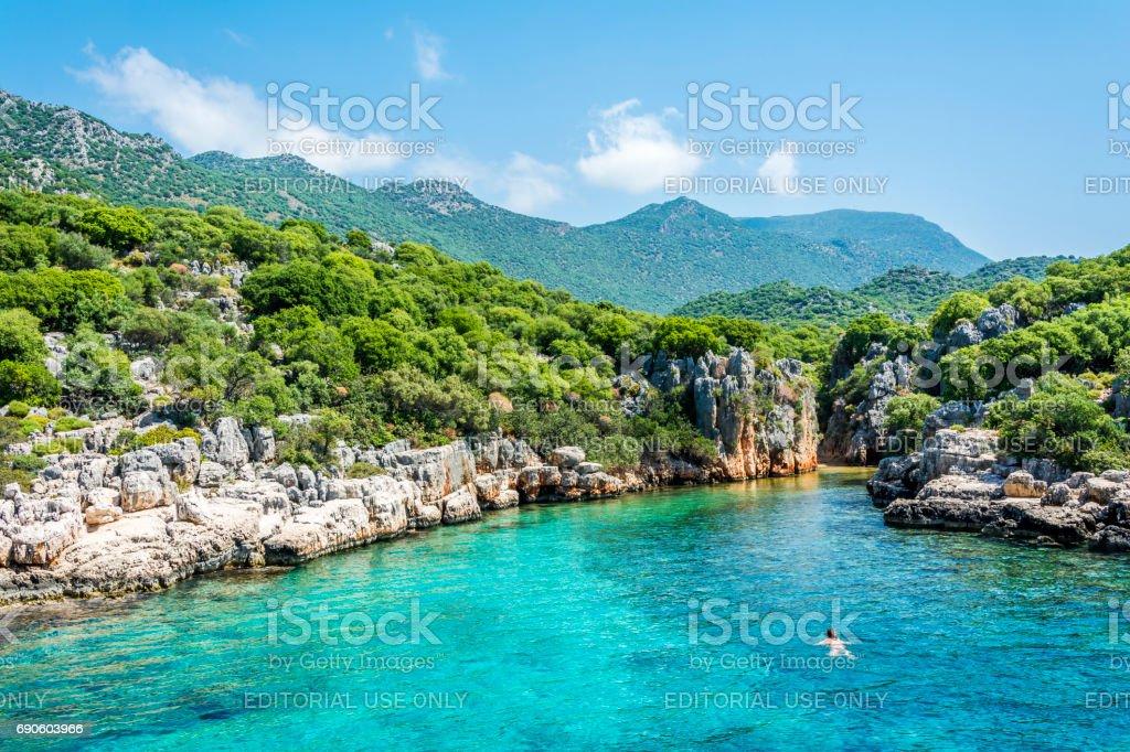 Mediterranean coast of Turkey stock photo