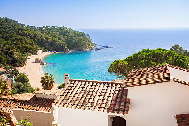 Mediterranean coast Mediterranean coast, Costa Brava, Spain villa stock pictures, royalty-free photos & images