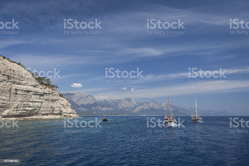 Mediterranean coastal scenery royalty-free stock photo