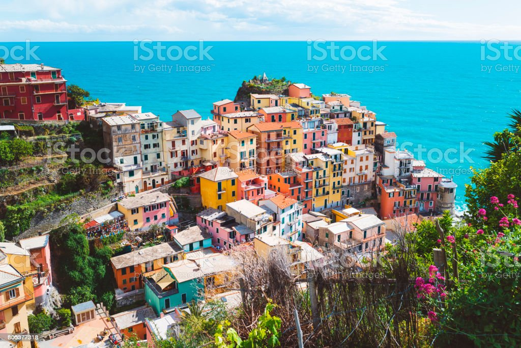 Mediterranean coastline royalty-free stock photo