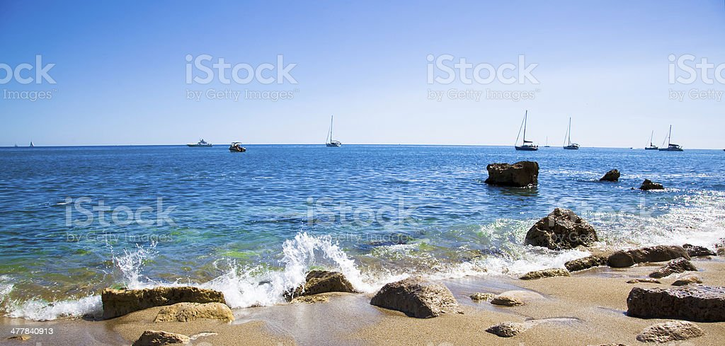 Mediterranean Cove royalty-free stock photo