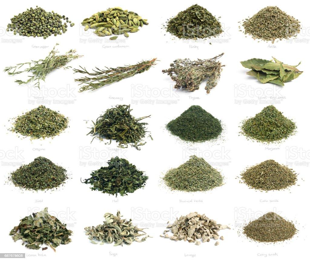 Mediterranean Cuisine Dried Herbs Stock Photo - Download Image Now - iStock