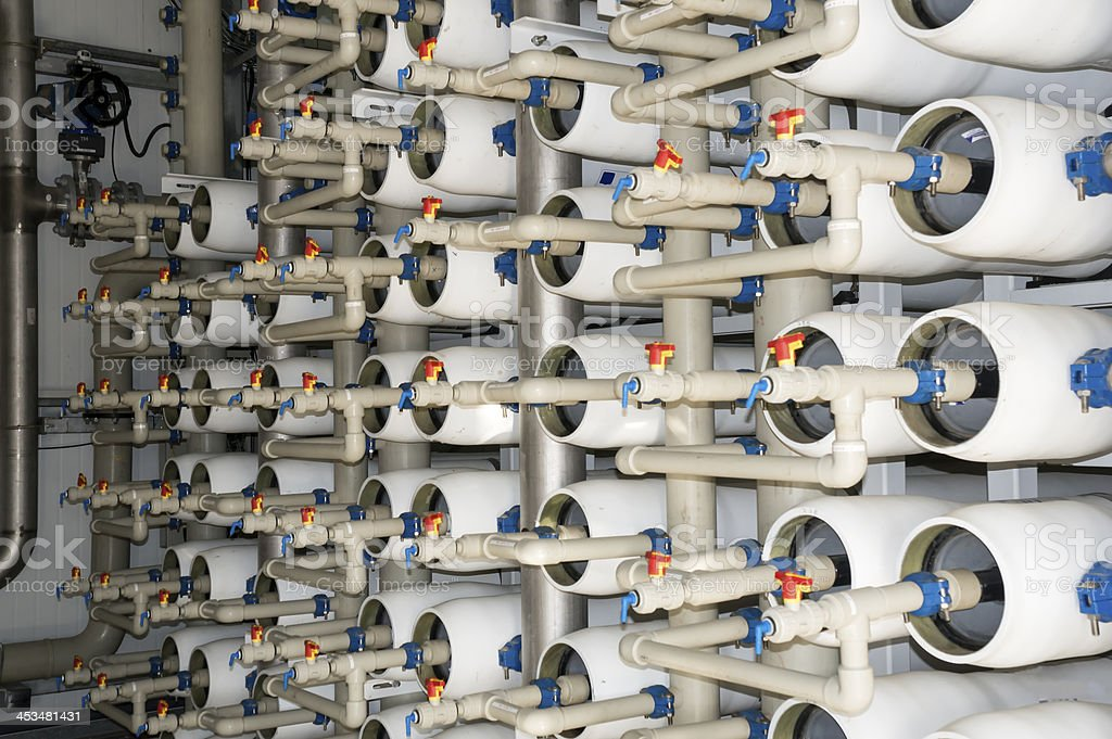 Mediterranean Desalination Facility stock photo
