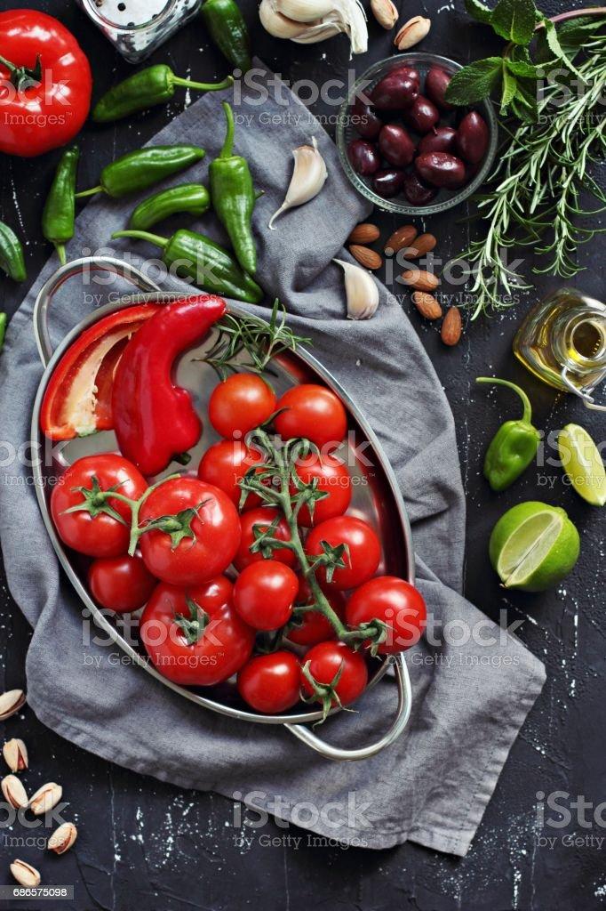 Mediterranean dinner table. royalty free stockfoto