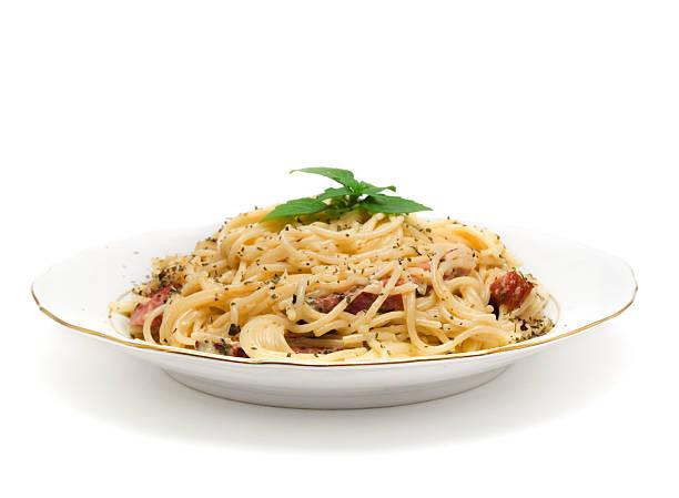 Mediterranean food collection-Spaghetti Carbonara – Foto