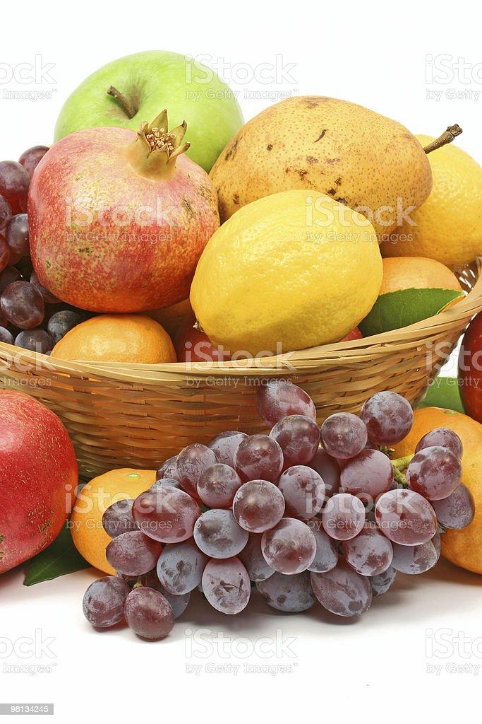 Mediterranean fruit basket royalty-free stock photo