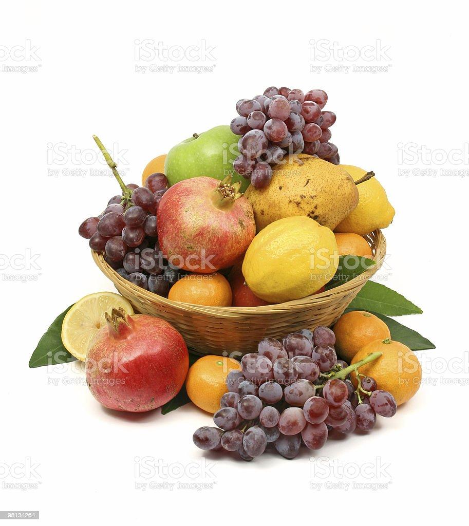 Mediterranean fruti basket royalty-free stock photo