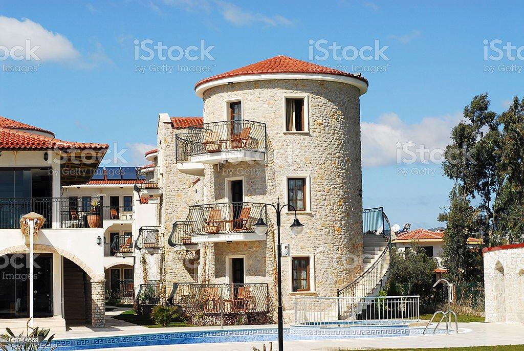 Mediterranean hotel royalty-free stock photo