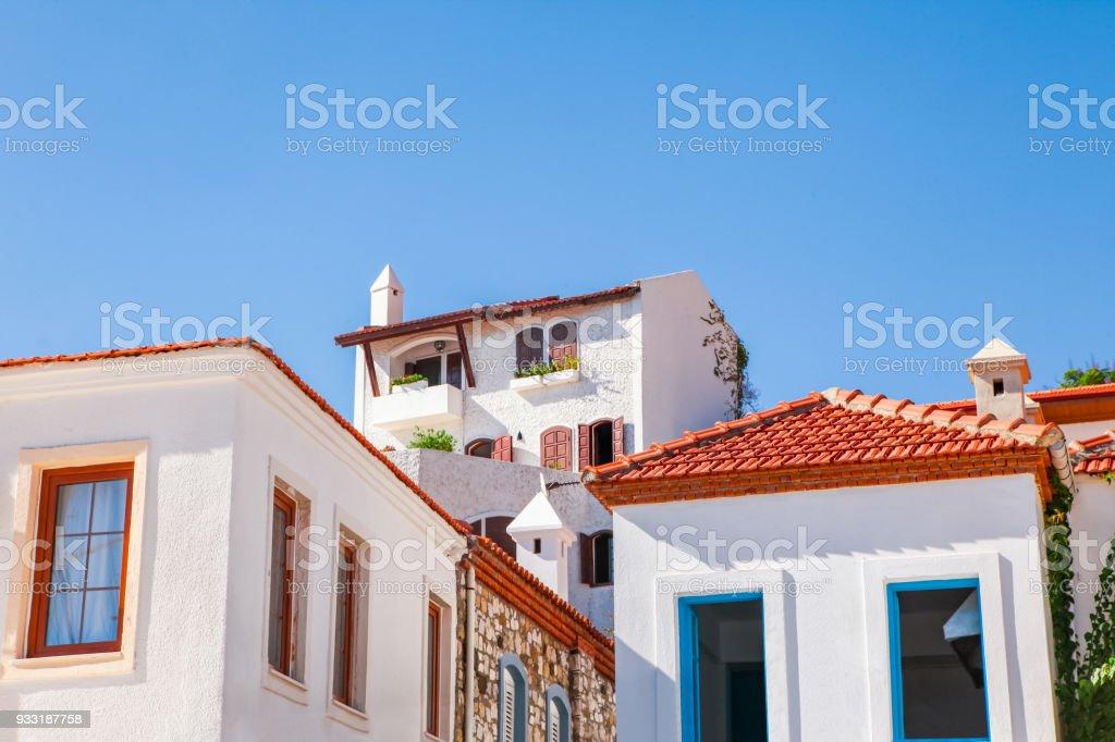 Mediterranean Houses - Marmaris stock photo